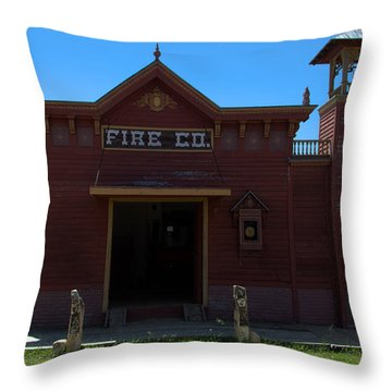 Old West Fire Station Throw Pillow