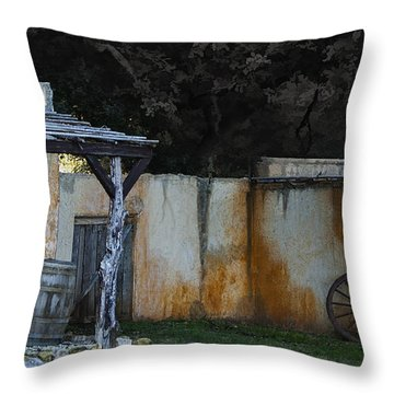 Old West Ghost Town Throw Pillow by Kelly Rader