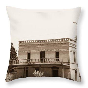 Old West Salon Throw Pillow