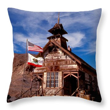 Old West School Days Throw Pillow