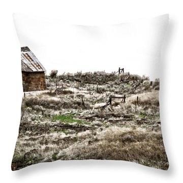 Old West School  Throw Pillow by Steve McKinzie
