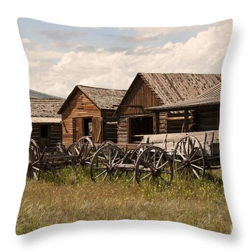 Old West Wyoming  Throw Pillow