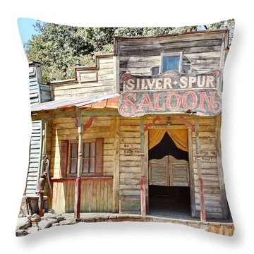 Old Western Saloon Throw Pillow