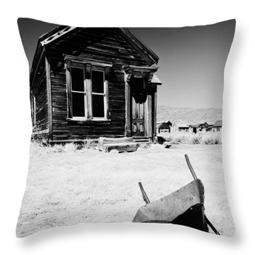 Old Wheelbarrow Throw Pillow by Cat Connor