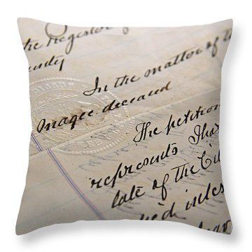 Old Will Throw Pillow by Traci Law