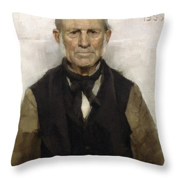 Old Willie - The Village Worthy, 1886 Throw Pillow