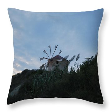 Old Wind Mill 1830 Throw Pillow by George Katechis
