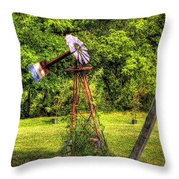 Old Windmill Throw Pillow by Jonny D