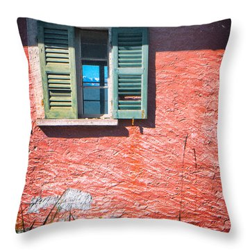 Throw Pillow featuring the photograph Old Window With Reflection by Silvia Ganora