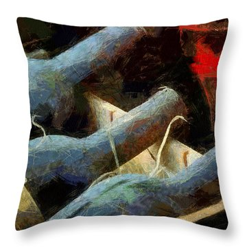 Old Wine Throw Pillow by Georgi Dimitrov