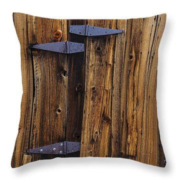 Old Wood Barn Throw Pillow by Garry Gay