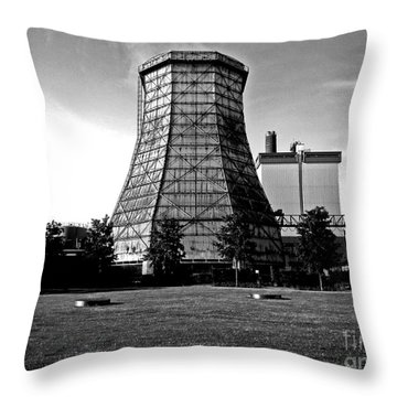 Old Wooden Cooling Tower Throw Pillow by Andy Prendy