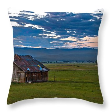 Old Working Barn Throw Pillow by Robert Bales