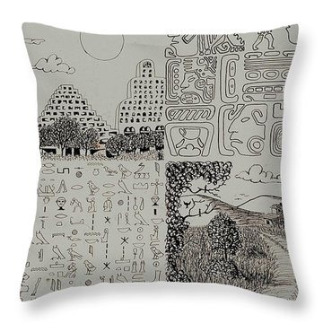 Old World New World Throw Pillow