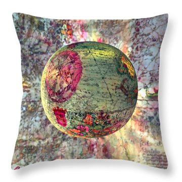 Old World Poppling Throw Pillow