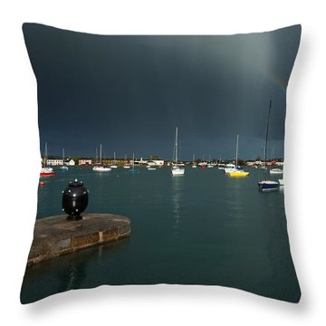 Old World War Two Mine And Rainbow, The Throw Pillow