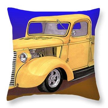Old Yeller Pickem Up Truck Throw Pillow by Jack Pumphrey