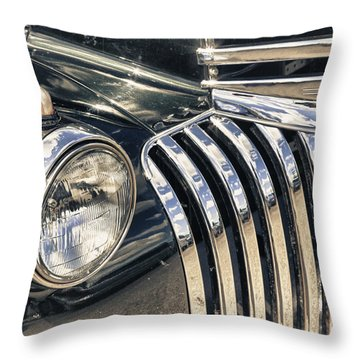 Oldblackchevytruck Throw Pillow by Lori Frostad