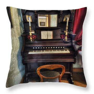 Olde Piano Throw Pillow