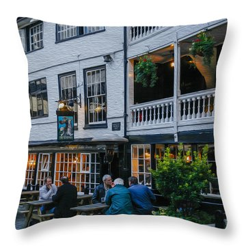 Oldest Coaching Inn In London Throw Pillow by Patricia Hofmeester