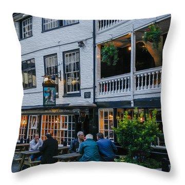 Oldest Coaching Inn In London Throw Pillow