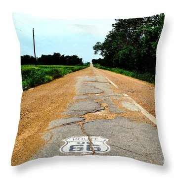 Throw Pillow featuring the photograph Oldest Stretch Of Route 66 by Utopia Concepts