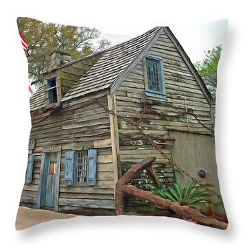 Oldest Wood School House In The Usa Throw Pillow by Marion Johnson