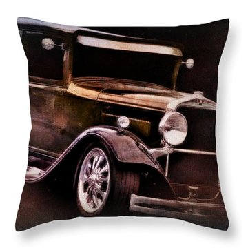 Old Car Throw Pillow featuring the photograph Oldie by Aaron Berg
