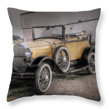 Throw Pillow featuring the photograph Old Ford Model A Coupe by Dyle   Warren