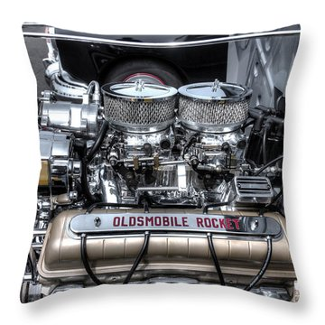 Olds Rocket Throw Pillow