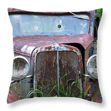 Ole Chevy Throw Pillow by Leon Hollins III
