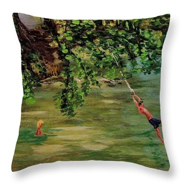 Ole' Swimming Hole Throw Pillow