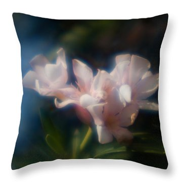 Throw Pillow featuring the photograph Oleander 1 by Travis Burgess