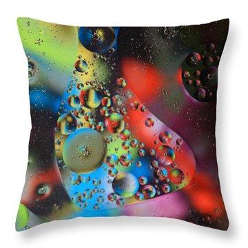 Olej I Woda 4 Throw Pillow by Joe Kozlowski