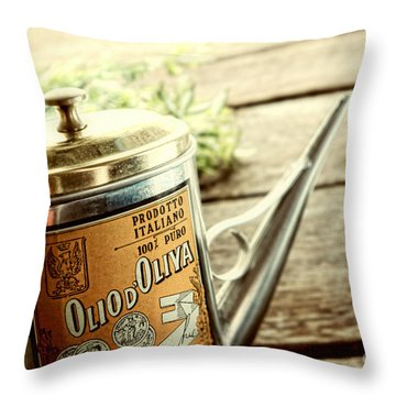 Olio D'oliva  Throw Pillow by Olivier Le Queinec