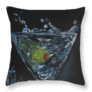 Olive Splash Throw Pillow