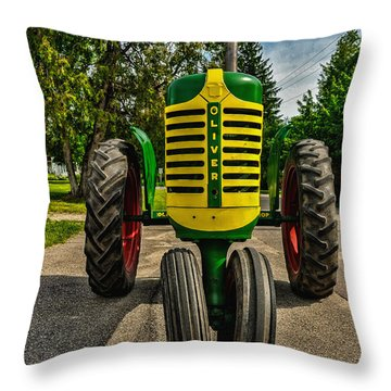 Throw Pillow featuring the photograph Oliver Row Crop Ogdensburg Puller by Trey Foerster