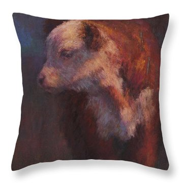 Oliver Throw Pillow by Susan Williamson