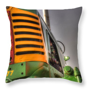 Oliver Tractor Throw Pillow