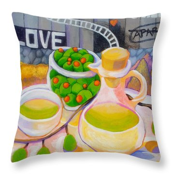 Olives Behind A Wall Throw Pillow