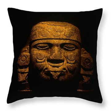 Olmeca Head Throw Pillow