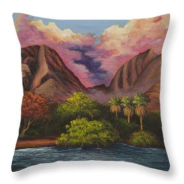 Olowalu Valley Throw Pillow