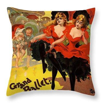 Olympia Grand Ballet Brighton Throw Pillow