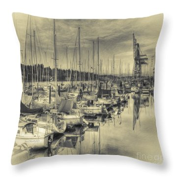 Throw Pillow featuring the photograph Olympia Marina 3 by Jean OKeeffe Macro Abundance Art