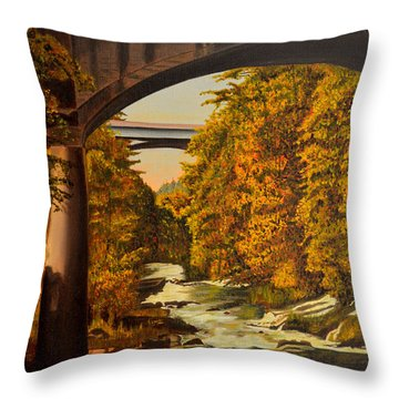 Olympia Throw Pillow by Thu Nguyen