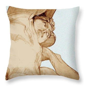 Olympic Athletics Discus Throw Throw Pillow