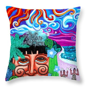 Om Throw Pillow by Genevieve Esson