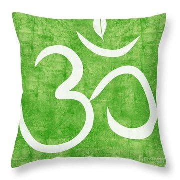 Om Green Throw Pillow