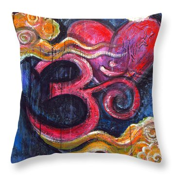 Om Heart Of Kindness Throw Pillow