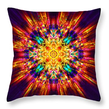 Throw Pillow featuring the painting Om Mani Padme Hum by Jalai Lama